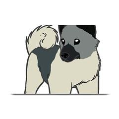 Norwegian Elkhound Cartoon Plate Mats