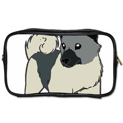 Norwegian Elkhound Cartoon Toiletries Bags