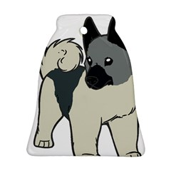 Norwegian Elkhound Cartoon Bell Ornament (2 Sides)