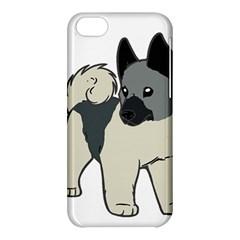 Norwegian Elkhound Cartoon Apple iPhone 5C Hardshell Case