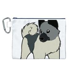 Norwegian Elkhound Cartoon Canvas Cosmetic Bag (L)