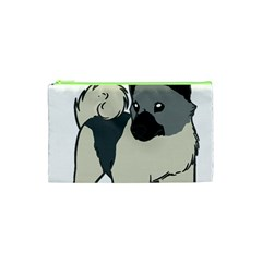 Norwegian Elkhound Cartoon Cosmetic Bag (XS)