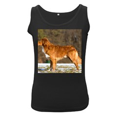 Duck Toller Full Women s Black Tank Top
