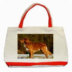 Duck Toller Full Classic Tote Bag (Red)