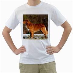 Duck Toller Full Men s T-Shirt (White)