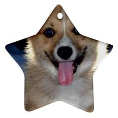 Pembroke Welsh Corgi Puppy Star Ornament (Two Sides)