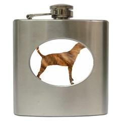 Plott Hound Brindle Silhouette Hip Flask (6 oz)