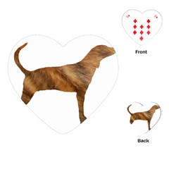 Plott Hound Brindle Silhouette Playing Cards (Heart)