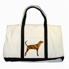 Plott Hound Brindle Silhouette Two Tone Tote Bag