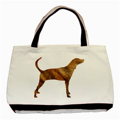 Plott Hound Brindle Silhouette Basic Tote Bag (Two Sides)