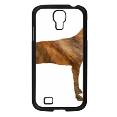 Plott Hound Brindle Silhouette Samsung Galaxy S4 I9500/ I9505 Case (Black)