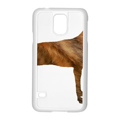 Plott Hound Brindle Silhouette Samsung Galaxy S5 Case (White)