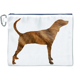 Plott Hound Brindle Silhouette Canvas Cosmetic Bag (XXXL)