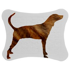 Plott Hound Brindle Silhouette Jigsaw Puzzle Photo Stand (Bow)