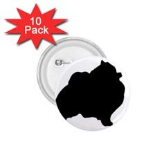 Pomerainian Silo Black 1.75  Buttons (10 pack)