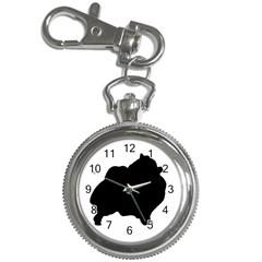 Pomerainian Silo Black Key Chain Watches
