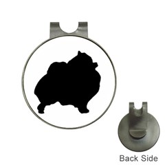 Pomerainian Silo Black Hat Clips with Golf Markers