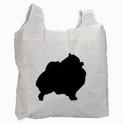 Pomerainian Silo Black Recycle Bag (Two Side)