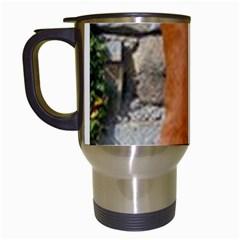 Rhodesian Ridgeback Standing Travel Mugs (White)