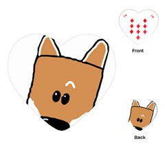 Peeping Shiba Playing Cards (Heart)