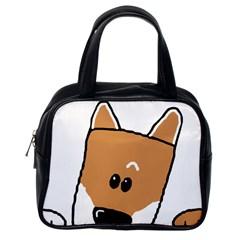 Peeping Shiba Classic Handbags (One Side)