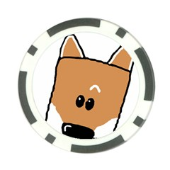 Peeping Shiba Poker Chip Card Guards (10 pack)