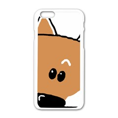 Peeping Shiba Apple iPhone 6/6S White Enamel Case