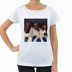 Smooth Fox Terrier Group Women s Loose-Fit T-Shirt (White)