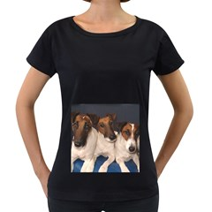 Smooth Fox Terrier Group Women s Loose-Fit T-Shirt (Black)