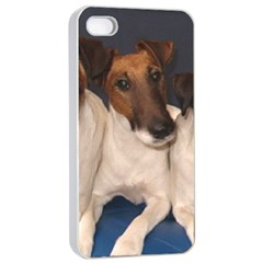 Smooth Fox Terrier Group Apple iPhone 4/4s Seamless Case (White)