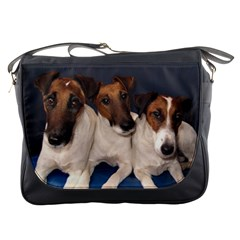Smooth Fox Terrier Group Messenger Bags