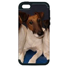 Smooth Fox Terrier Group Apple iPhone 5 Hardshell Case (PC+Silicone)