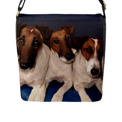 Smooth Fox Terrier Group Flap Messenger Bag (L)