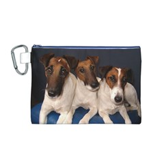 Smooth Fox Terrier Group Canvas Cosmetic Bag (M)