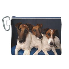Smooth Fox Terrier Group Canvas Cosmetic Bag (L)