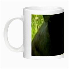 Staffy black Night Luminous Mugs