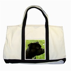 Staffy black Two Tone Tote Bag