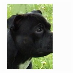 Staffy black Small Garden Flag (Two Sides)