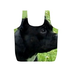 Staffy black Full Print Recycle Bags (S)