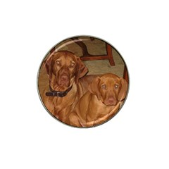 2 Vizslas Hat Clip Ball Marker (4 pack)
