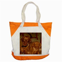2 Vizslas Accent Tote Bag