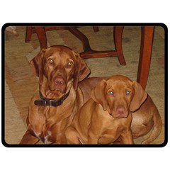 2 Vizslas Fleece Blanket (Large)