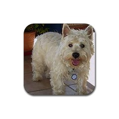 Westie Full Rubber Coaster (Square)