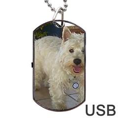 Westie Full Dog Tag USB Flash (Two Sides)