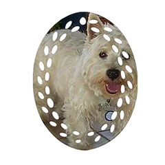 Westie Full Oval Filigree Ornament (2-Side)