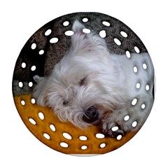 Westy Sleeping Ornament (Round Filigree)