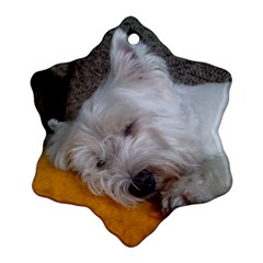 Westy Sleeping Ornament (Snowflake)