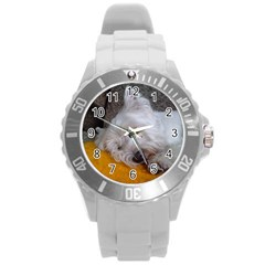 Westy Sleeping Round Plastic Sport Watch (L)