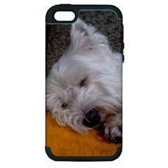 Westy Sleeping Apple iPhone 5 Hardshell Case (PC+Silicone)