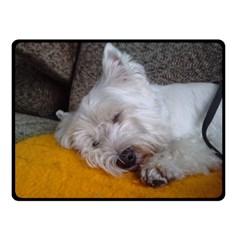 Westy Sleeping Double Sided Fleece Blanket (Small)